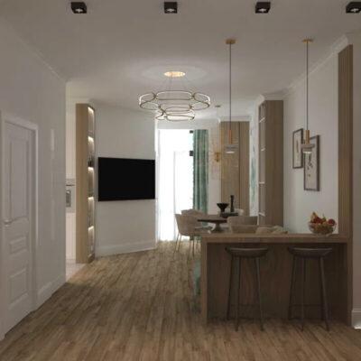 Трехкомнатная квартира с видом на море в жило комплексе Клаб Марин 2