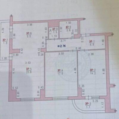 2-комнатная квартира в ЖМ Радужный